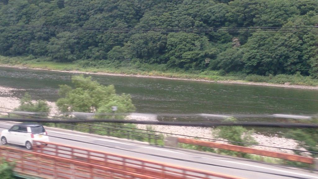 陸羽西線から眺めた最上川