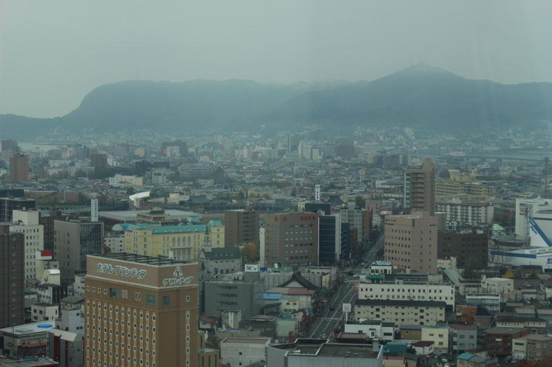 五稜郭タワーから見た函館山