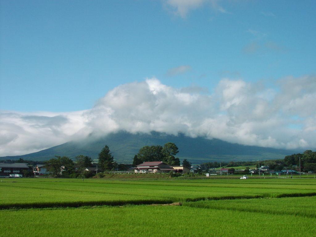 花輪線から眺める岩手山