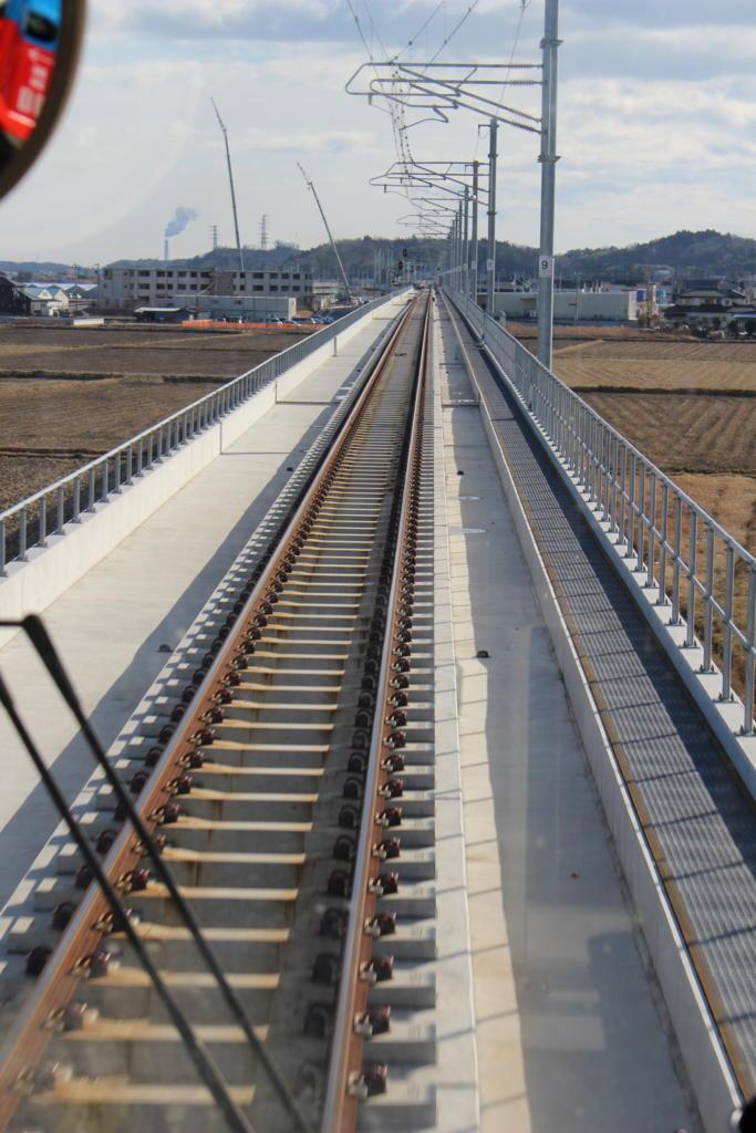 常磐線 付け替え区間の真新しい線路