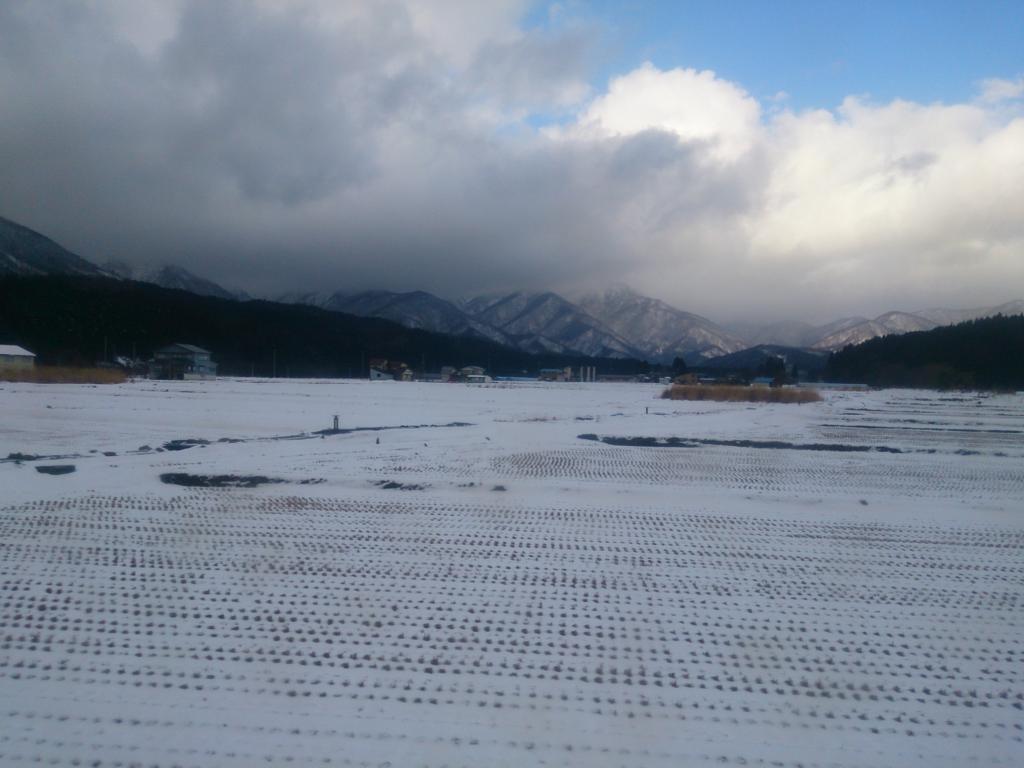 陸羽東線から見る雪景色