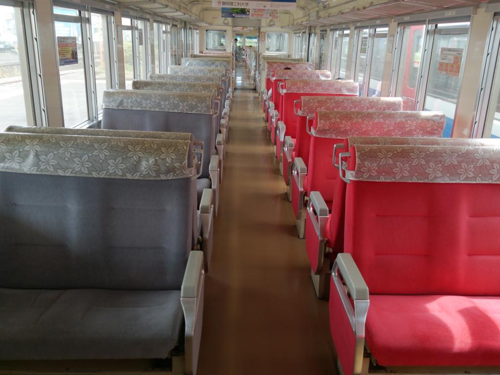 伊豆箱根鉄道の電車内