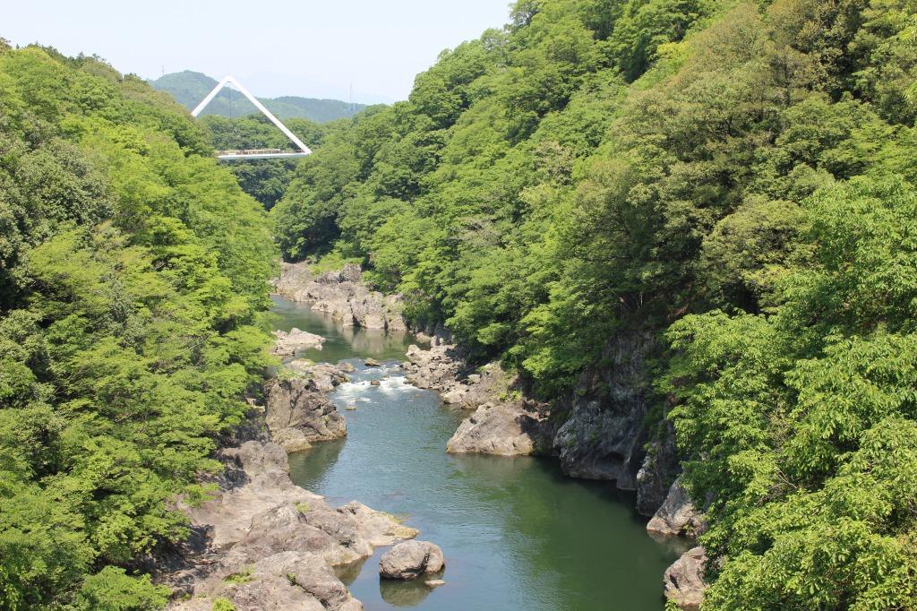 大間々駅から徒歩5分でも本格的な「高津戸峡」