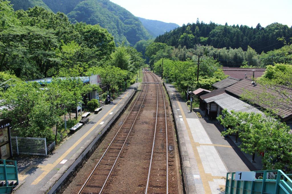 神戸駅のホーム全景