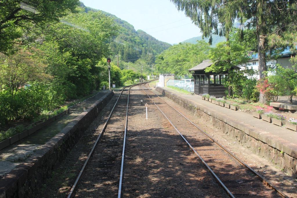 沢入駅のホーム