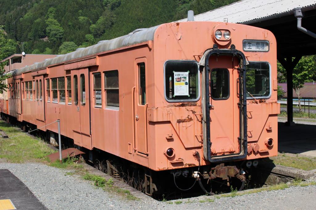 足尾駅に留置されているキハ35形