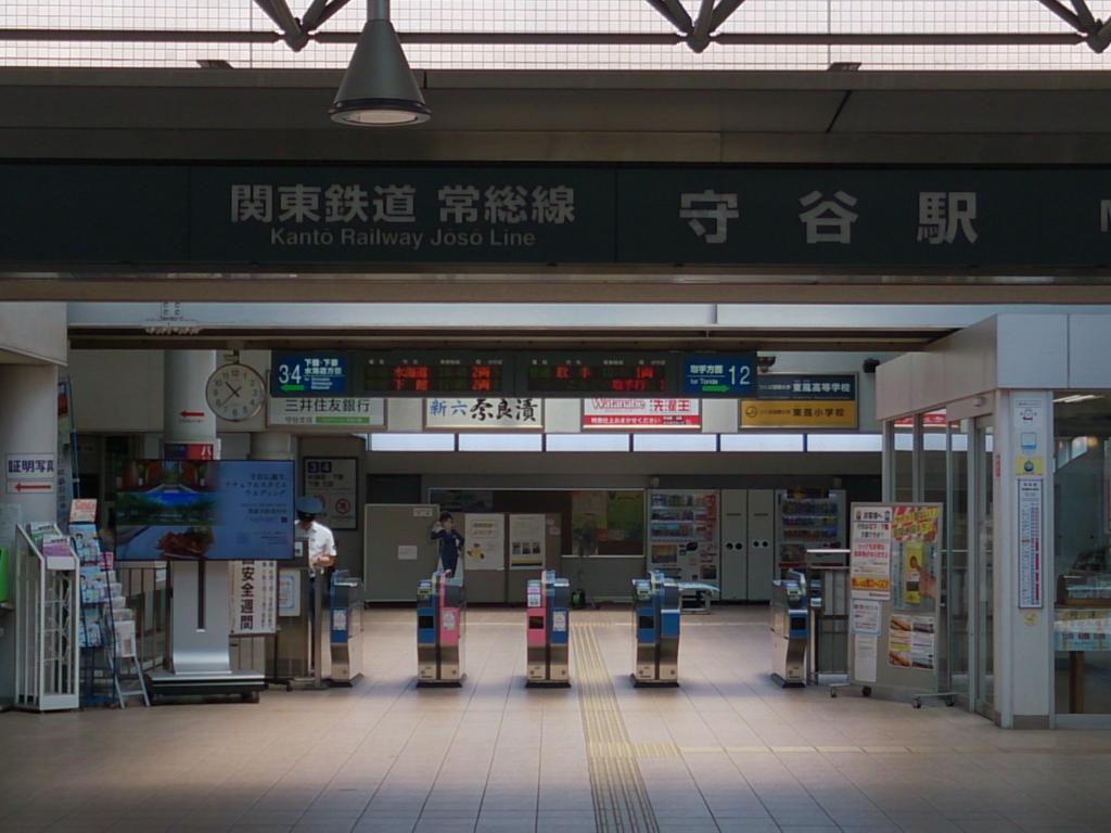 守谷駅の改札口