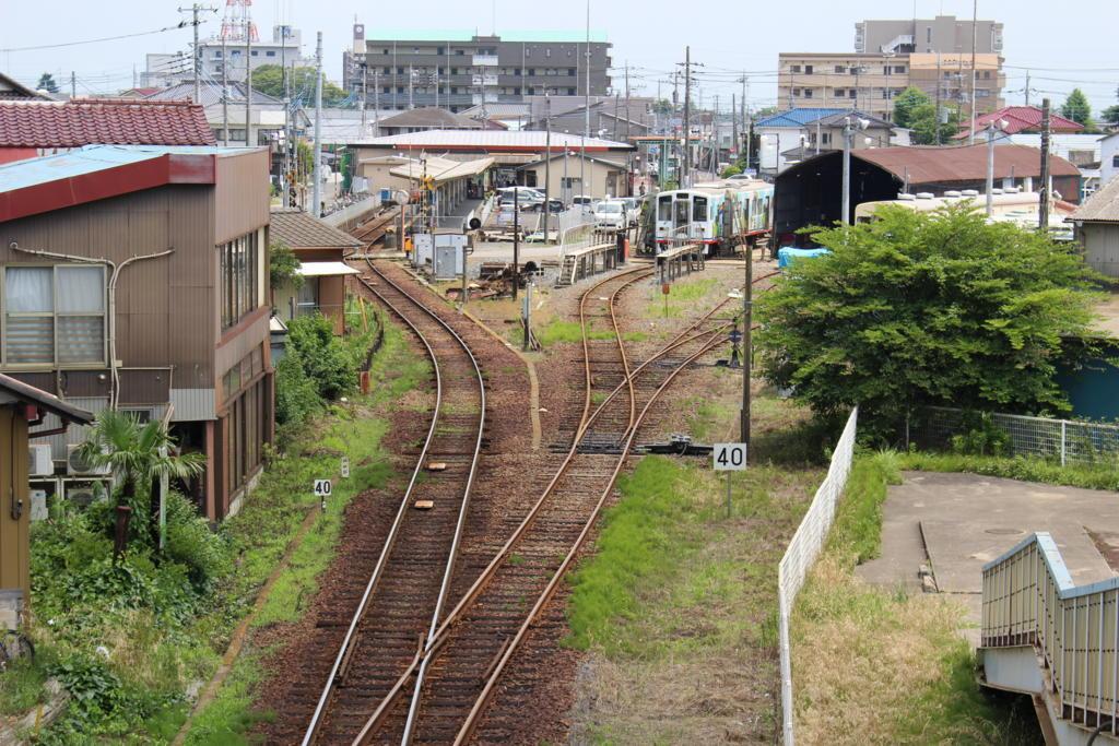 竜ケ崎駅近くの跨線橋から