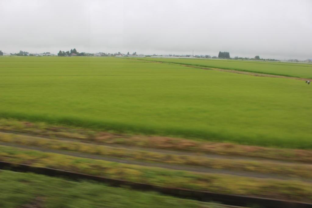 会津盆地の風景