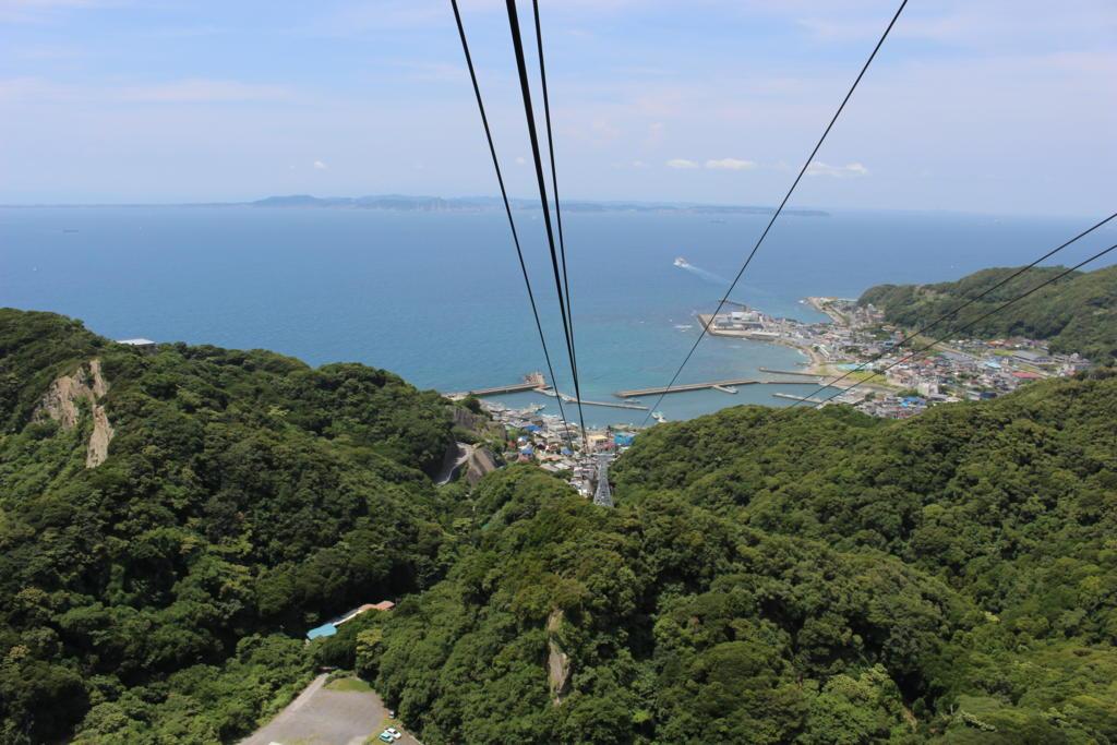 鋸山ロープウェイから東京湾を眺める 絶景です!