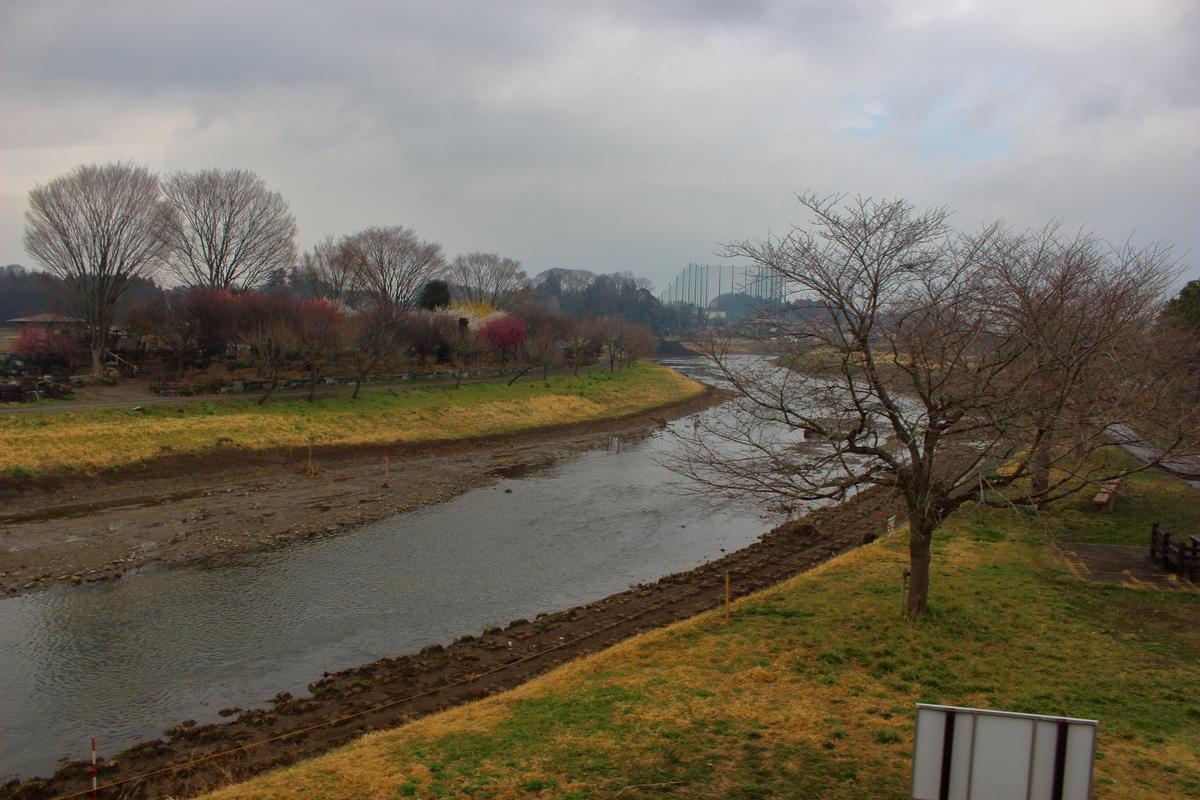 小貝川を渡ると益子焼の里、益子駅へ