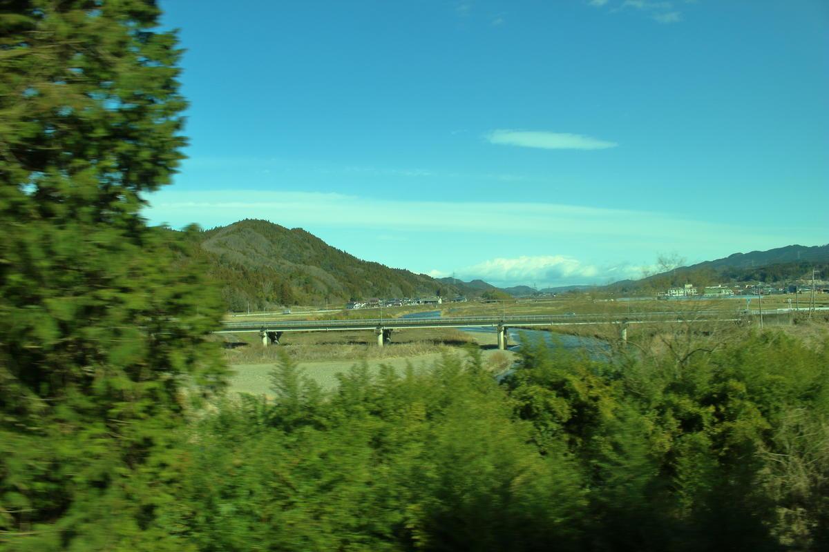 久慈川の周囲に広がるのどかな風景が美しい水郡線の車窓
