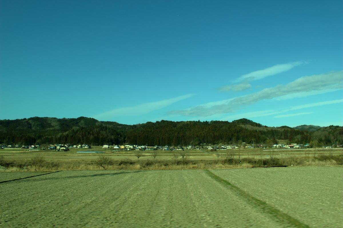 水郡線の北部ではのどかな風景が続きます