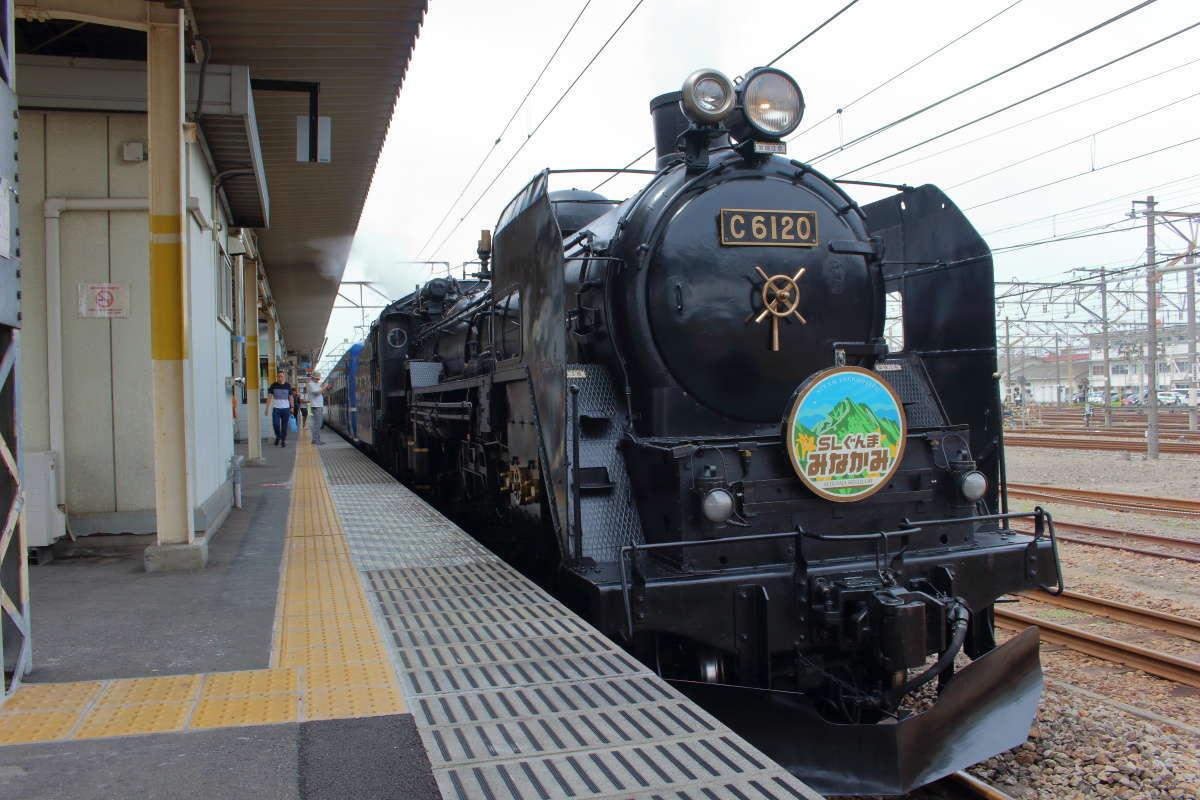 C6120形 蒸気機関車で運転される「SLぐんまみなかみ」(新前橋駅)