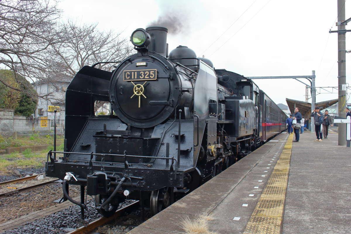 真岡鉄道の目玉「SLもおか」からの乗り継ぎもできます!