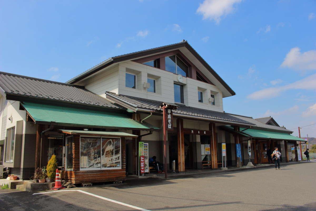 真岡鉄道の終着、茂木駅の駅前の様子