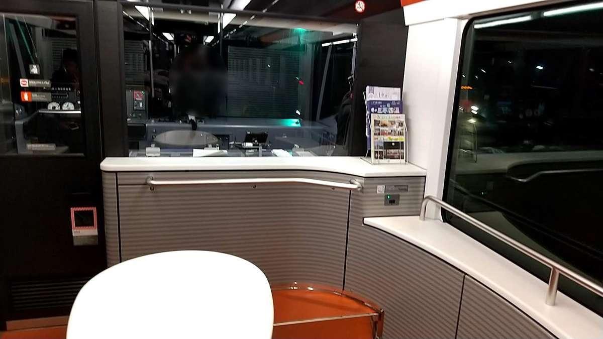 「海里」車端部の展望スペース
