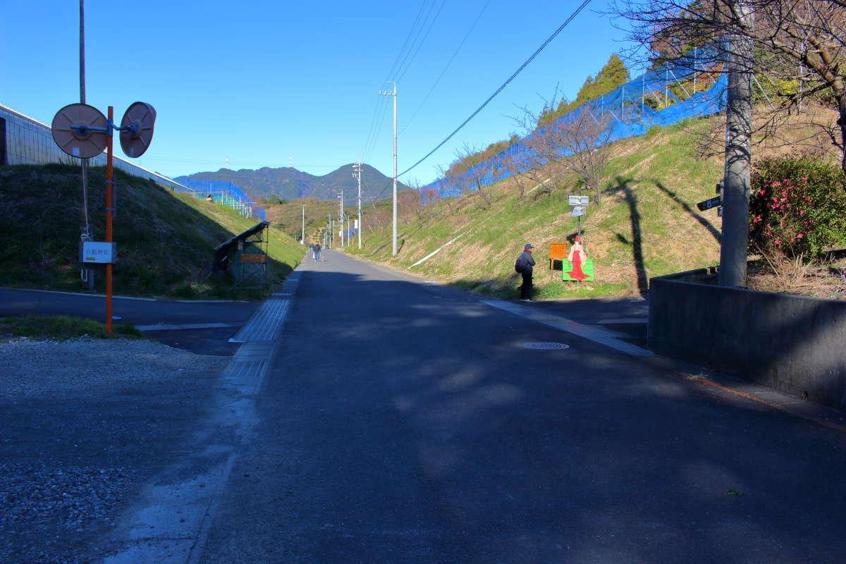薩埵峠への交差点