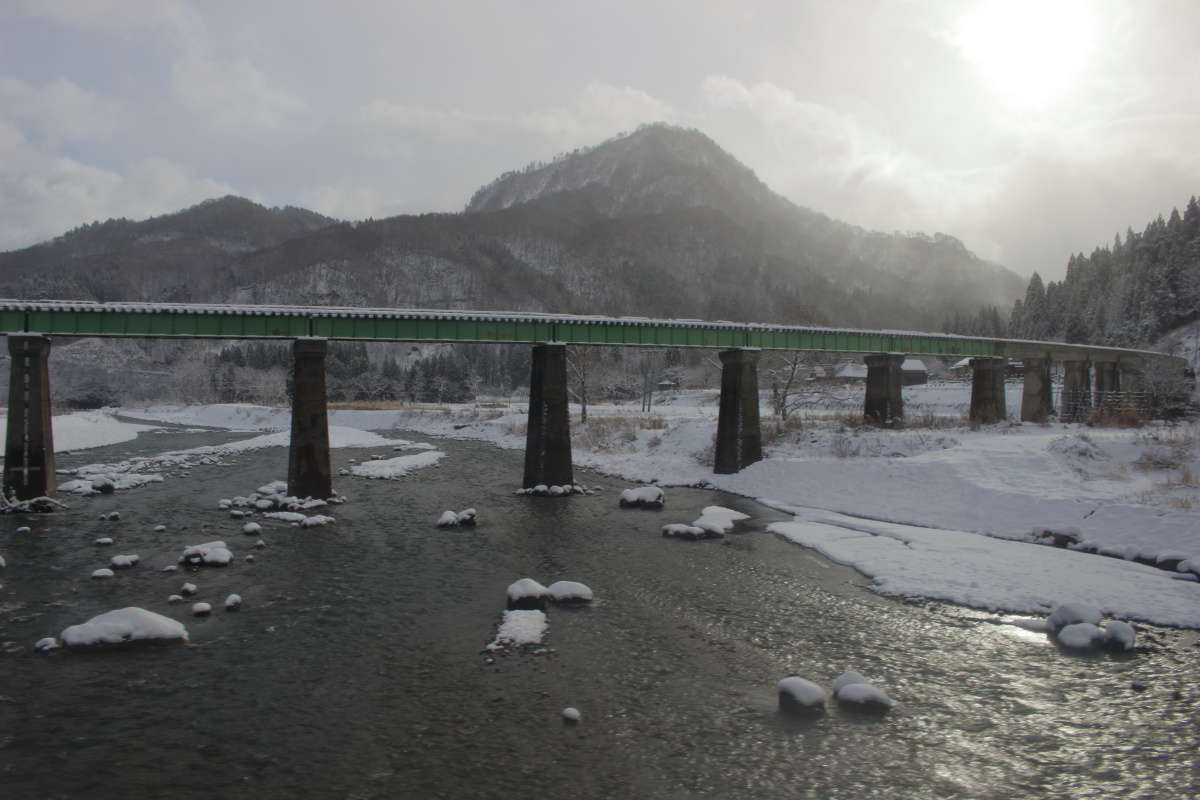 只見駅近くの「叶津川橋梁」