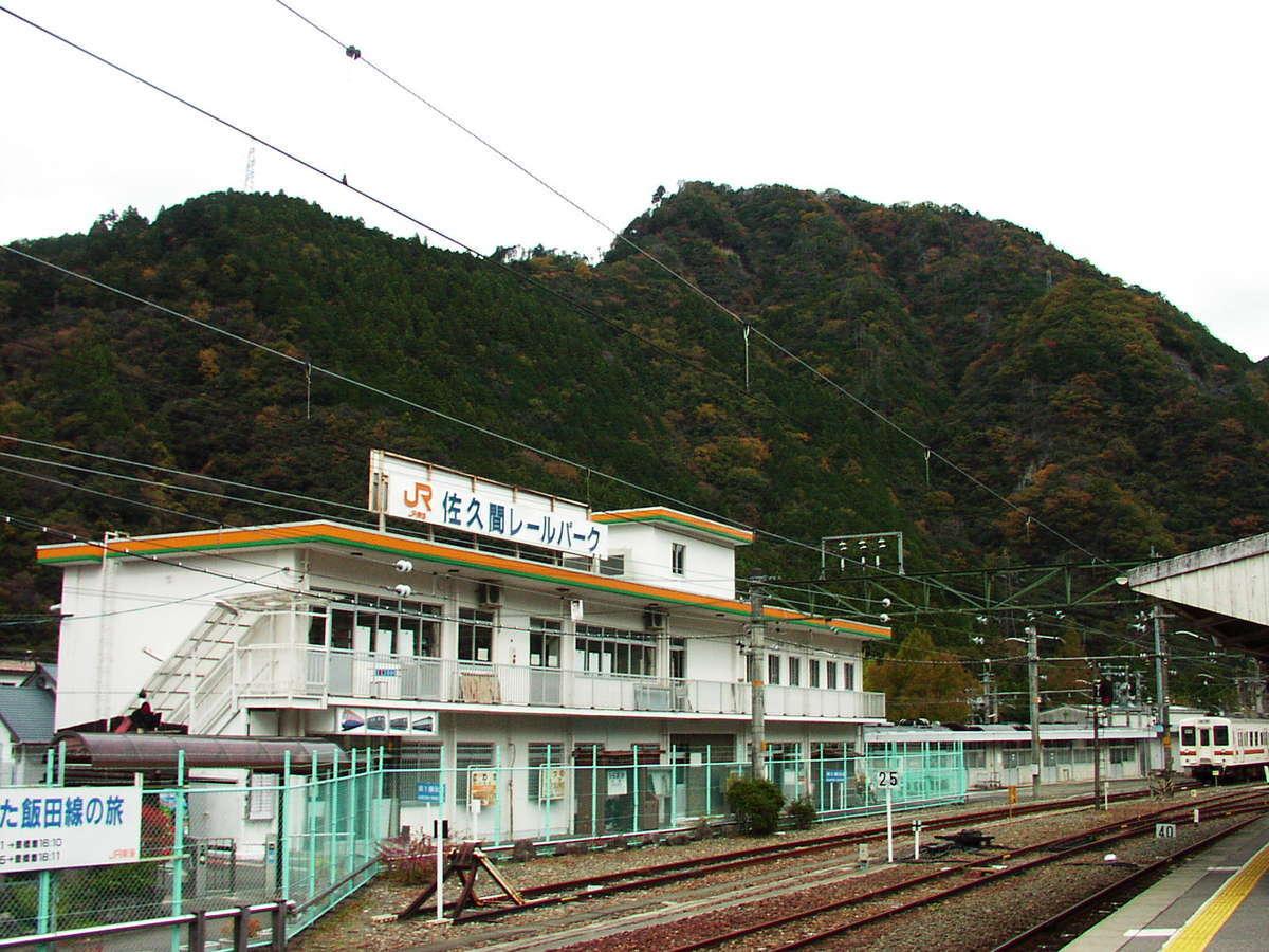 かつて中部天竜駅構内にあったミニ鉄道博物館「佐久間レールパーク」