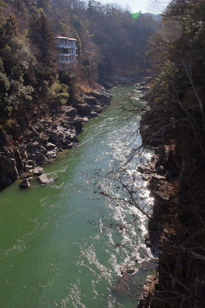 姑射橋から眺める天竜峡