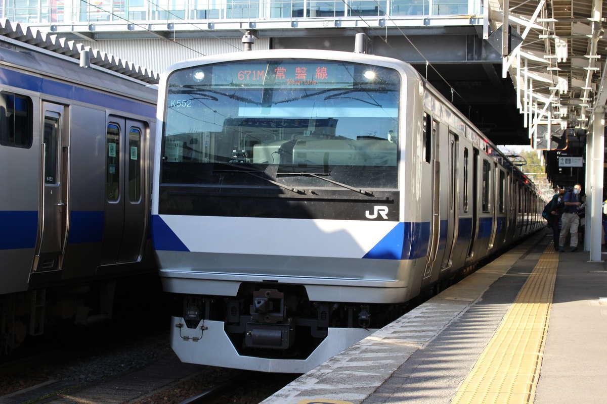ダイヤ改正後、常磐線のいわき~原ノ町ではE531系に統一されます