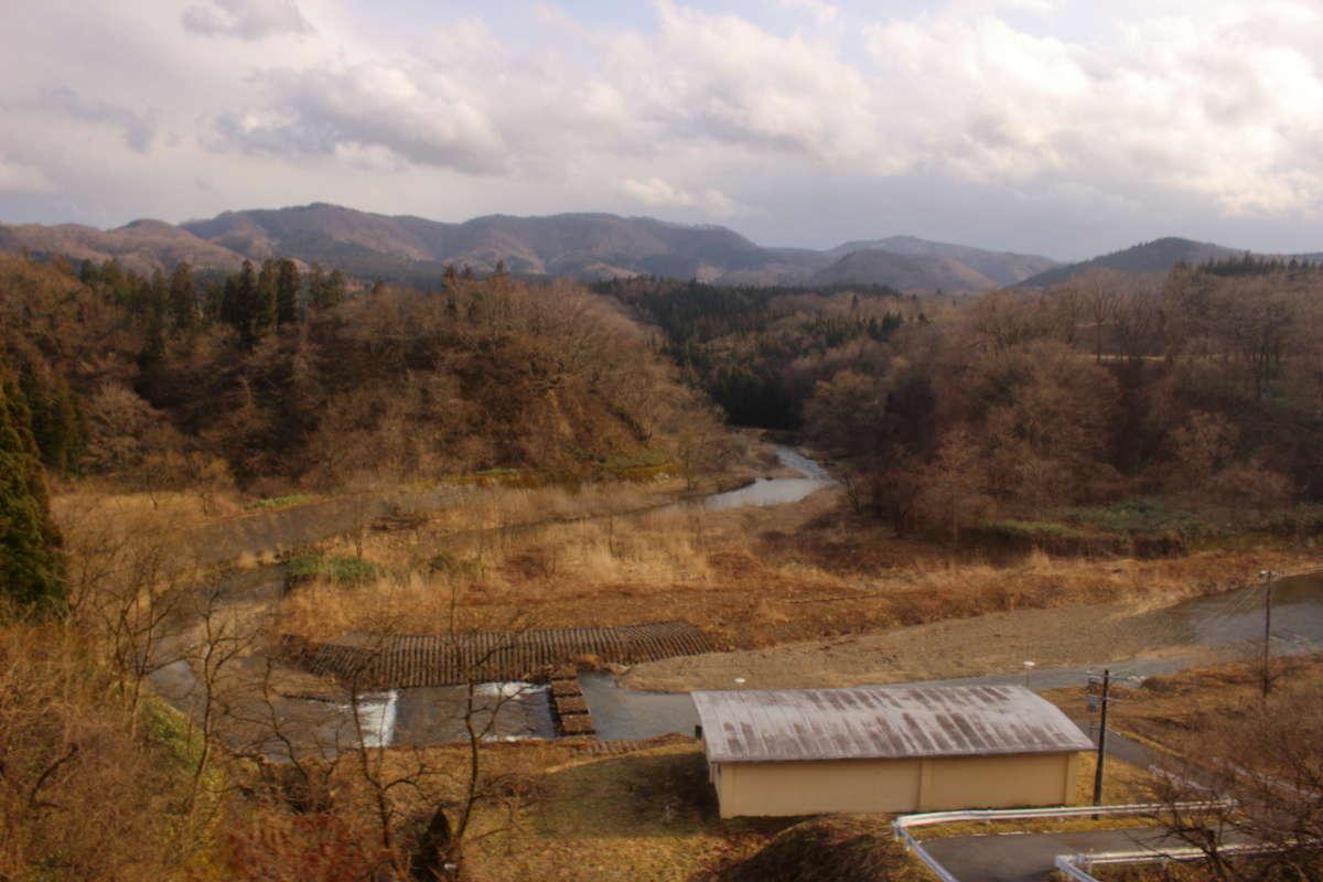 堺田駅より東側では川は東へ流れます