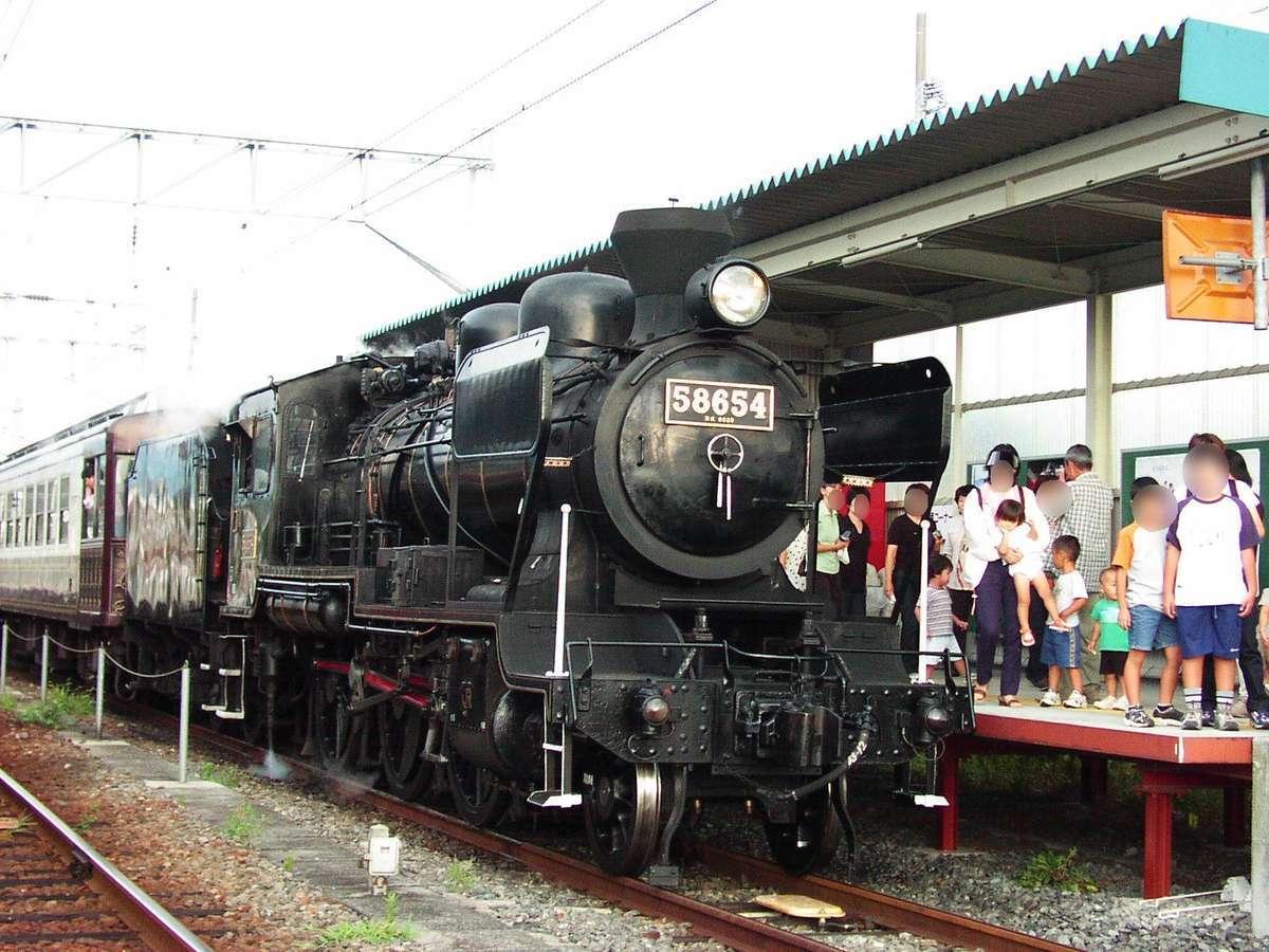 かつては「SLあそBOY」というSL列車が走っていました