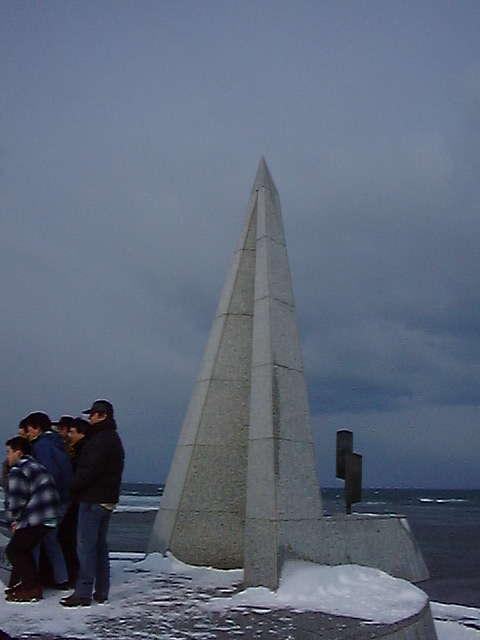 宗谷岬の「日本最北端の地」を表すモニュメント