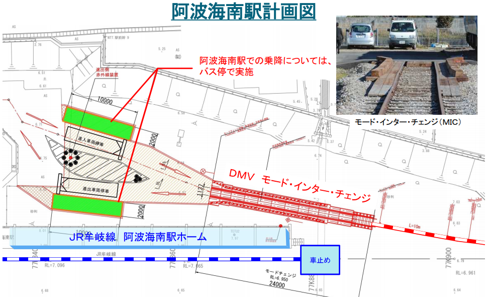阿佐海南駅のDMV整備計画