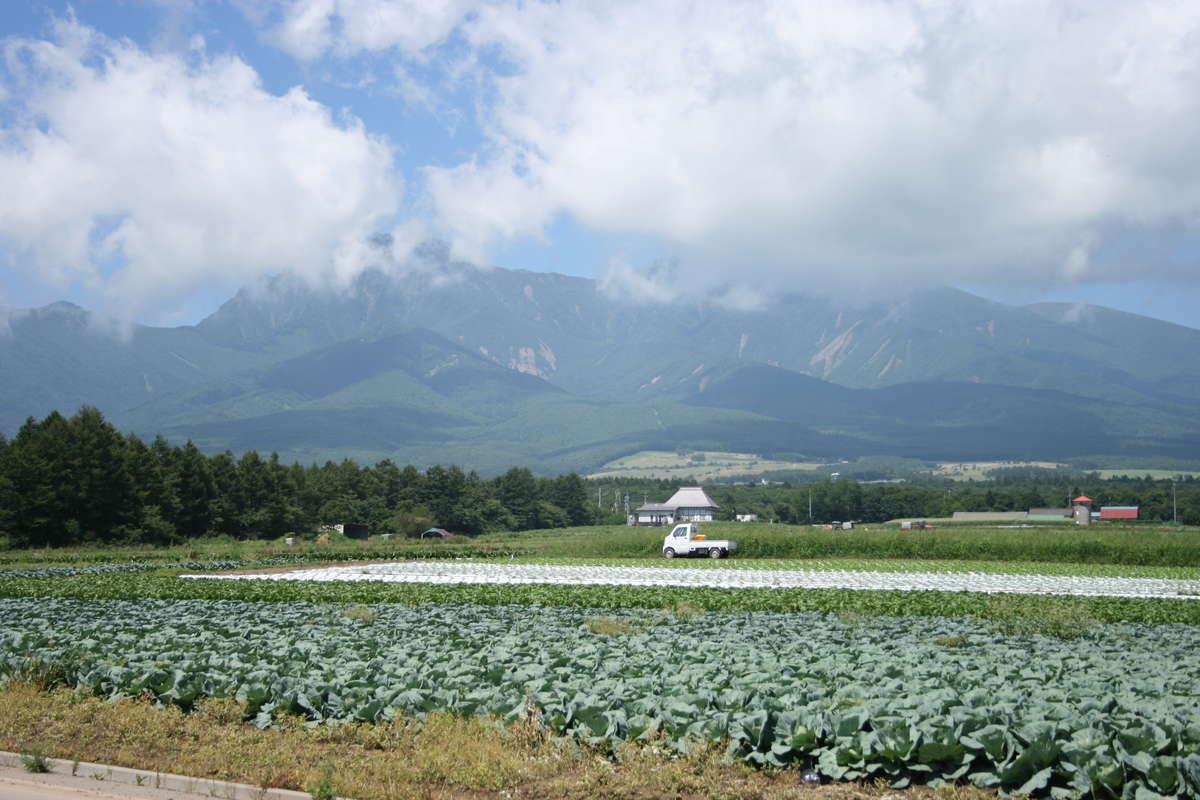 野辺山駅近くから八ヶ岳を望む