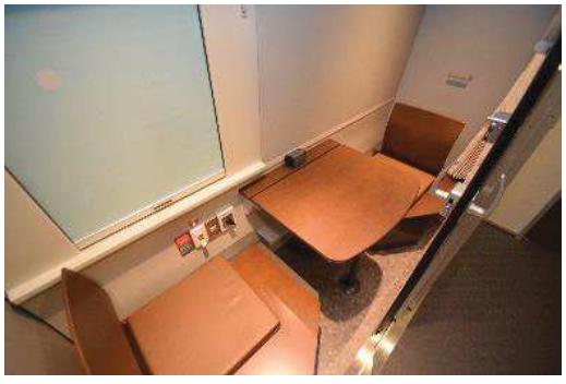 「はまなす編成」1号車の「多目的室兼個室」