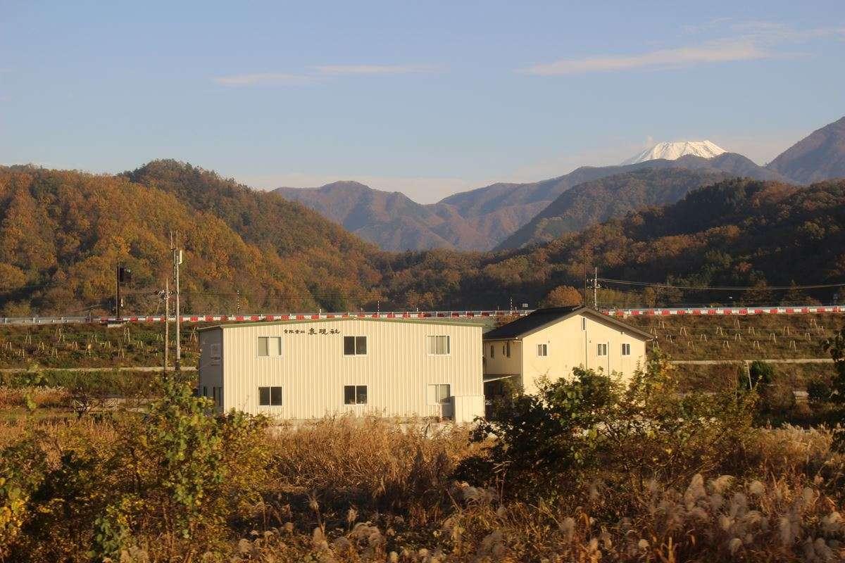 甲府盆地より先でもところどころで富士山が!