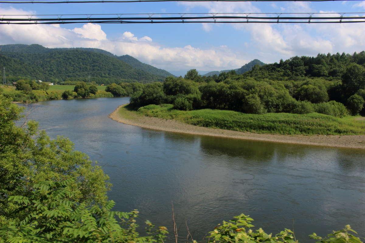 ゆったりとした流れが美しい天塩川
