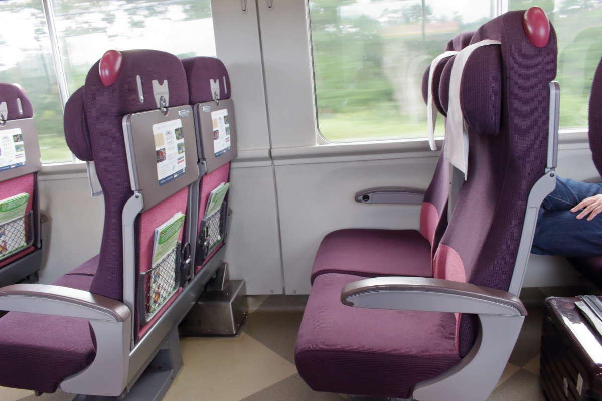 北斗12号の座席はリニューアルされた座席で座り心地は抜群!