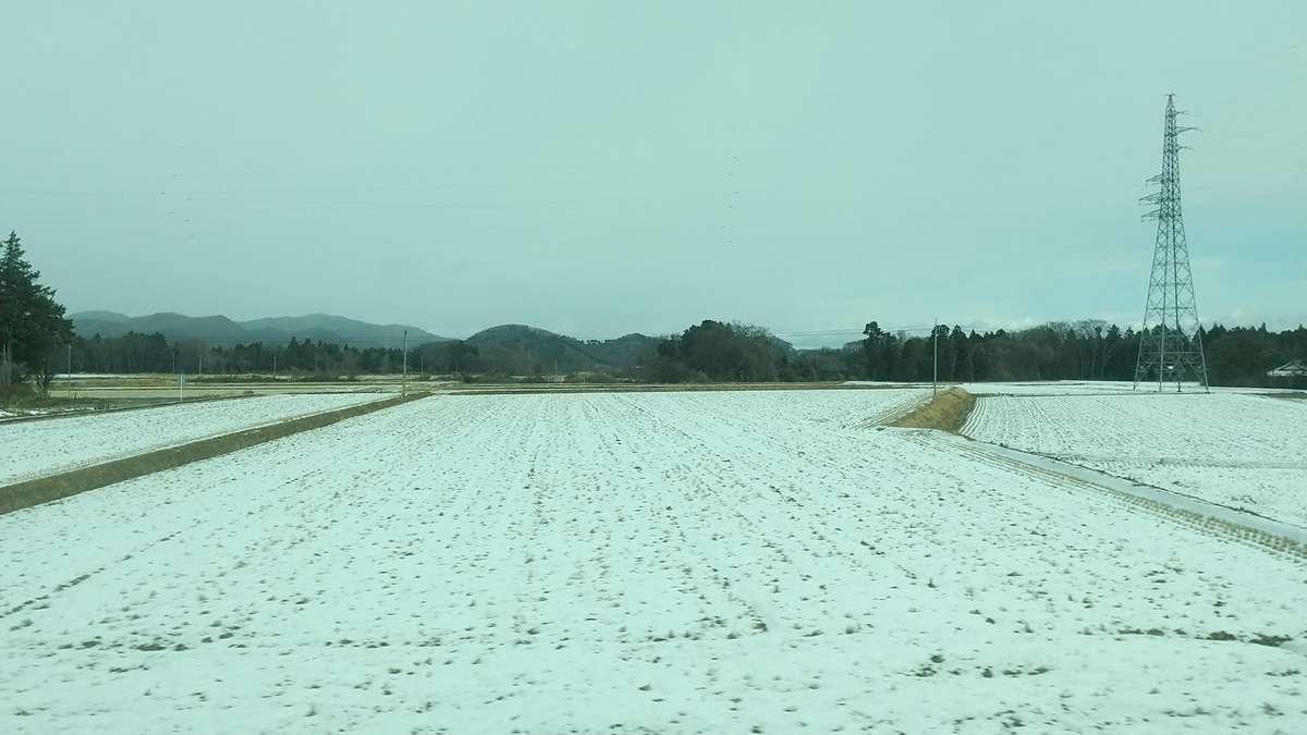 郡山周辺は雪が少なめ