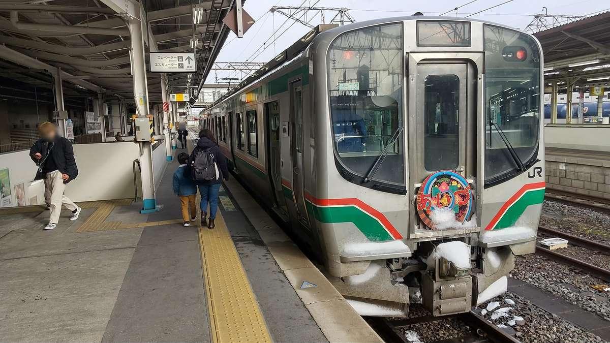 快速「あいづ2号」、郡山駅に到着!