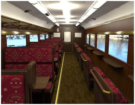 「SL冬の湿原号」リニューアル客車のイメージ