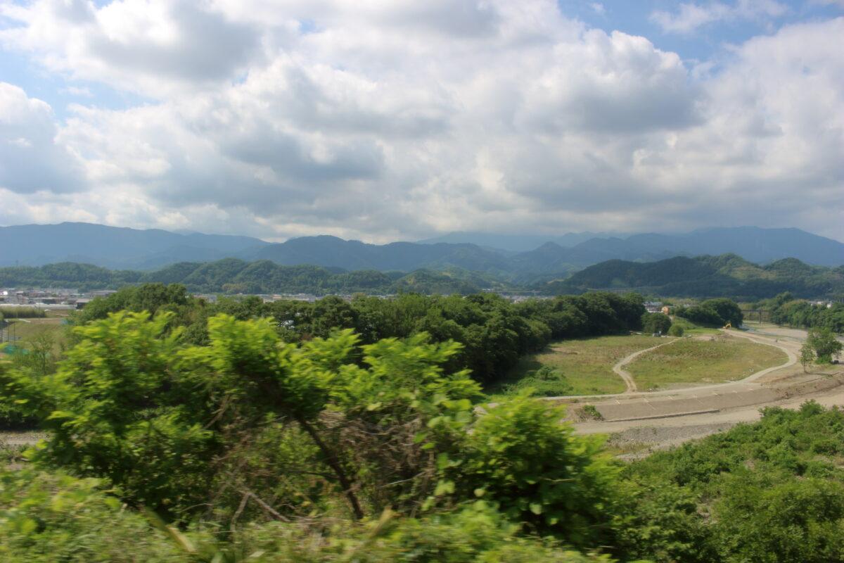 上州七日市駅付近の車窓