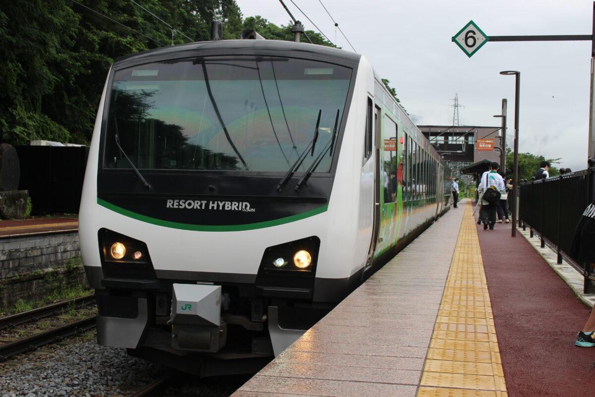 篠ノ井線・大糸線を走る「リゾートビューふるさと」
