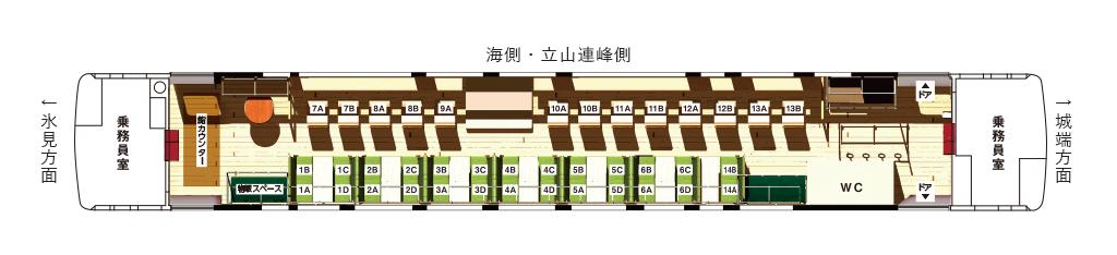 「べるもんた」の座席表