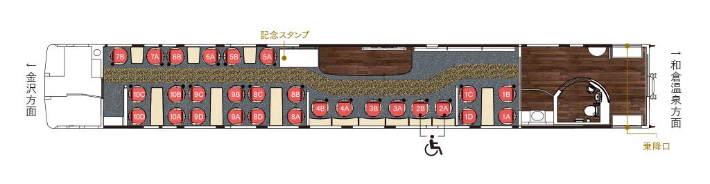 「花嫁のれん」2号車の座席表